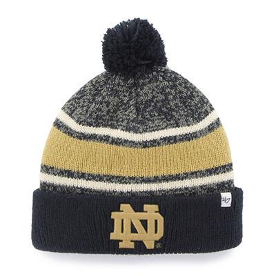 Notre Dame Front (47 Brand Fairfax College Team Knit Hat)