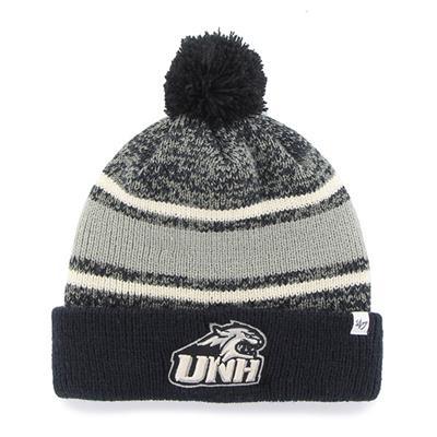 UNH Front (47 Brand Fairfax College Team Knit Hat)