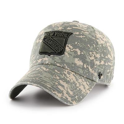 Front (47 Brand Rangers Camo Officer Cap)