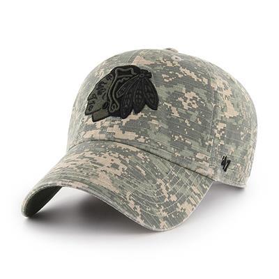 Front (47 Brand Blackhawks Camo Officer Cap)