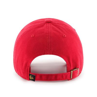Back (47 Brand Blackhawks Clean Up Cap - Red)