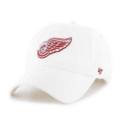 Front (47 Brand Red Wings Clean Up Cap - White)
