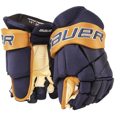 Navy/Vegas Gold (Bauer PHC Vapor Pro Hockey Gloves - Senior)