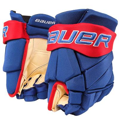 Royal/Red (Bauer PHC Vapor Pro Hockey Gloves - Senior)