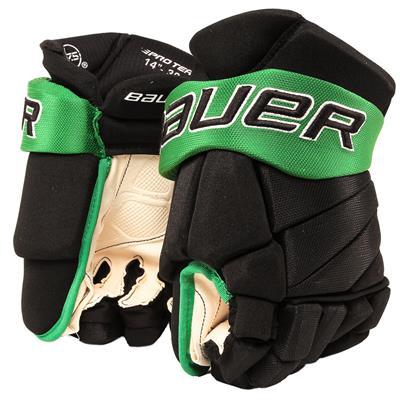 Black/Kelly Green (Bauer PHC Vapor Pro Hockey Gloves - Junior)