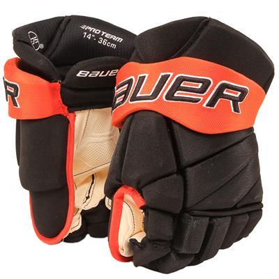 Black/Orange (Bauer PHC Vapor Pro Hockey Gloves - Junior)