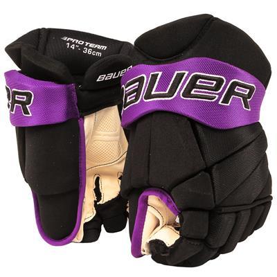 Black/Purple (Bauer PHC Vapor Pro Hockey Gloves - Junior)