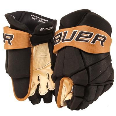 Black/Vegas Gold (Bauer PHC Vapor Pro Hockey Gloves - Junior)
