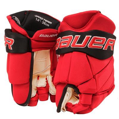 Red/Black (Bauer PHC Vapor Pro Hockey Gloves - Junior)