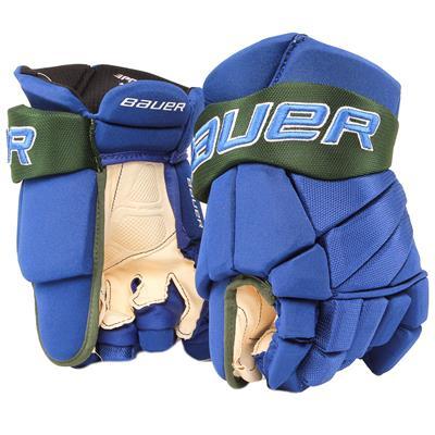 Royal/Green (Bauer PHC Vapor Pro Hockey Gloves - Junior)