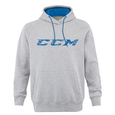 Grey (CCM Ice Cold Fleece Pullover Hockey Hoodie - Mens)