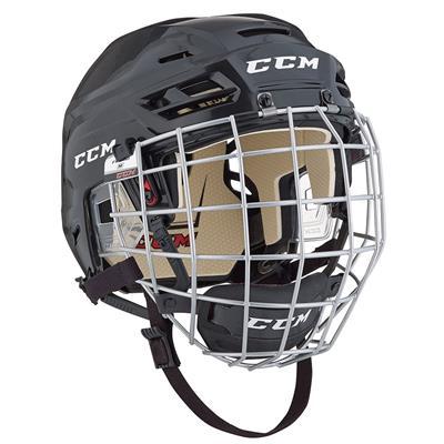Black (CCM Tacks 110 Hockey Helmet Combo)
