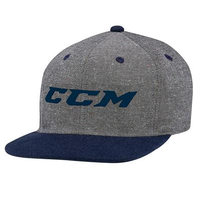 Grey/College Blue (CCM Chambray Snapback Hockey Hat)