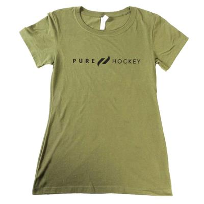 Army Green (Pure Hockey Womens Classic Army Green Tee)