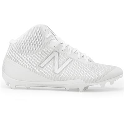 Outside (New Balance Burn X Mid-Cleat White/White)