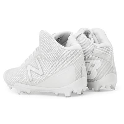 Heel (New Balance Burn X Mid-Cleat White/White - Mens)