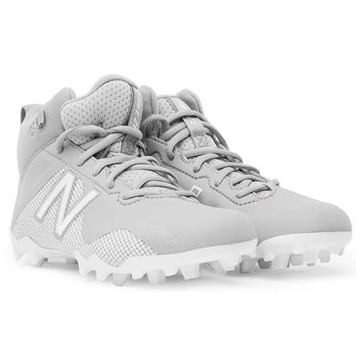 (New Balance Freeze Junior Mid-Cleat - Grey/White)