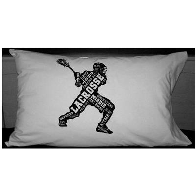 "Lacrosse Player Pillow Case (Painted Pastimes Painted Pastimes ""Lacrosse Player"" Pillow Case - Standard)"