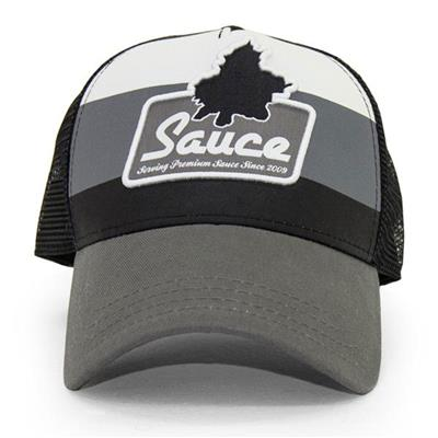 Front (Sauce Hockey Premium Grey Hat - Adult)