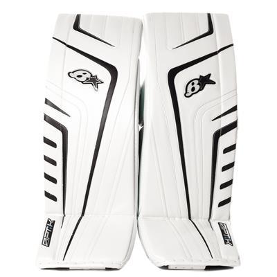 White/Black (Brians OPT1K Goalie Leg Pads)