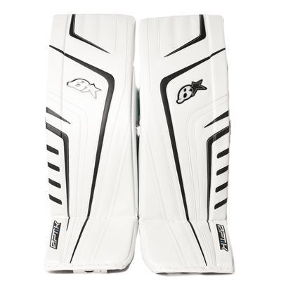 White/Navy (Brians OPT1K Goalie Leg Pads)