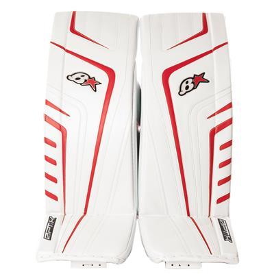 White/Red (Brians OPT1K Goalie Leg Pads)