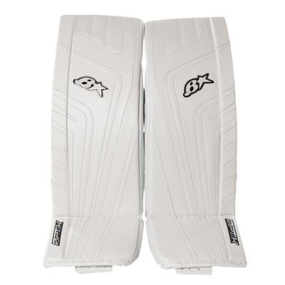 White/White (Brians OPT1K Goalie Leg Pads)