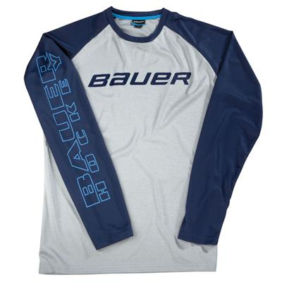 F16 Athletic CB LS Raglan Tee (Bauer F16 Athletic CB Long Sleeve Hockey Raglan)