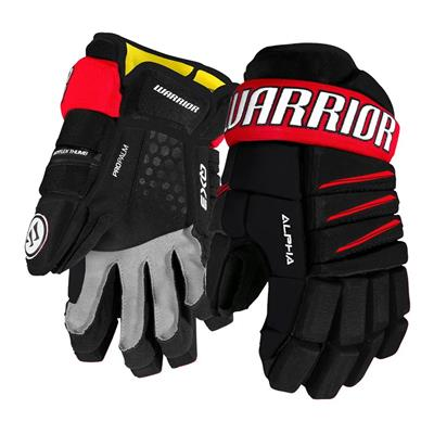 Black/Red (Warrior Alpha QX3 Hockey Gloves - Senior)