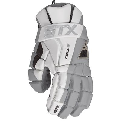 Grey (STX Cell IV Mens Lacrosse Gloves)