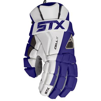 Navy (STX Cell IV Mens Lacrosse Gloves)