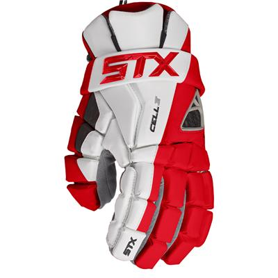 Red (STX Cell IV Mens Lacrosse Gloves)