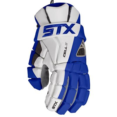 Royal (STX Cell IV Mens Lacrosse Gloves)