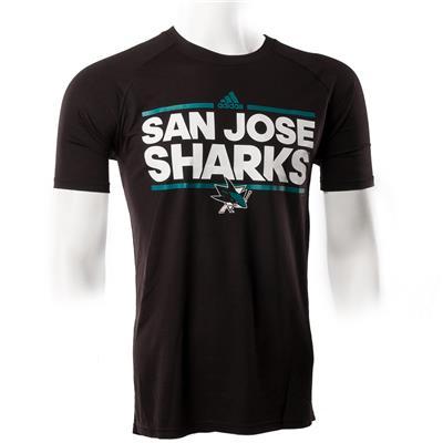 San Jose Sharks (Adidas San Jose Sharks Dassler Short Sleeve Tee)