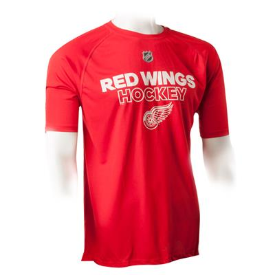 Detroit Red Wings (Adidas Red Wings Authentic Ice Short Sleeve Tee - Mens)