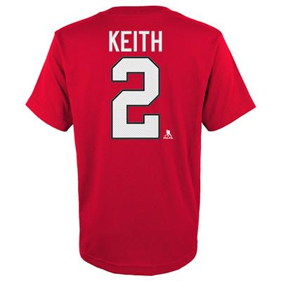 Keith (Adidas Blackhawks Keith Short Sleeve Tee - Youth)