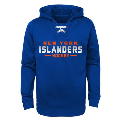 New York Islanders (Adidas Islanders Basic Poly Hockey Hoody - Youth)