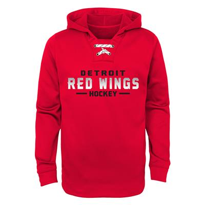 Detroit Red Wings (Adidas Red Wings Basic Poly Hockey Hoody - Youth)