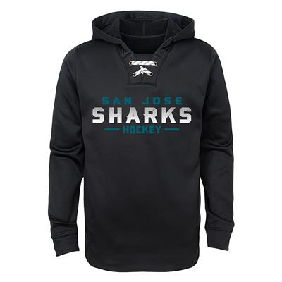 San Jose Sharks (Adidas Sharks Basic Poly Hockey Hoody - Youth)