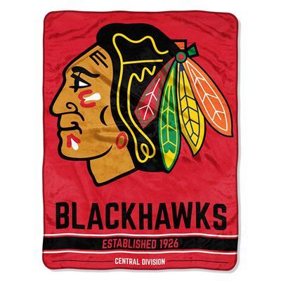 "Blackhawks (Northwest Company NHL Micro Raschel Throw Blanket - 46"" x 60"")"