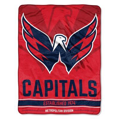 "Capitals (Northwest Company NHL Micro Raschel Throw Blanket - 46"" x 60"")"