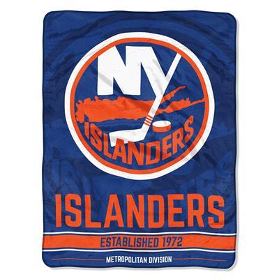 "Islanders (Northwest Company NHL Micro Raschel Throw Blanket - 46"" x 60"")"