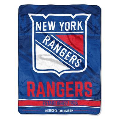 "Rangers (Northwest Company NHL Micro Raschel Throw Blanket - 46"" x 60"")"