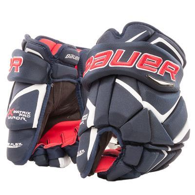 Navy/Red/White (Bauer Vapor Matrix Pro Hockey Gloves - 2017)