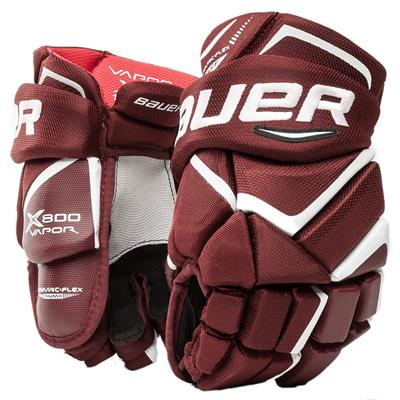 Maroon (Bauer Vapor X800 Hockey Gloves - Junior)