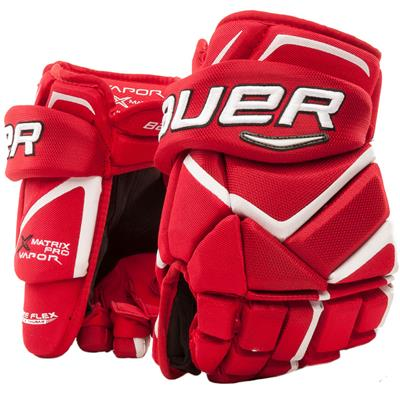 Red/White (Bauer Vapor Matrix Pro Hockey Gloves - 2017)