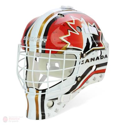 canada (Bauer NME USA/Canada Street Hockey Goalie Mask)