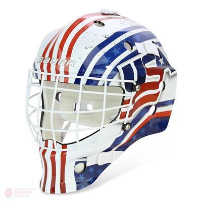 USA (Bauer NME USA/Canada Street Hockey Goalie Mask)