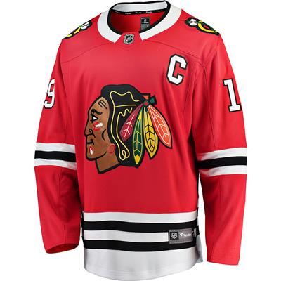 Jonathan Toews Front (Fanatics Blackhawks Replica Jersey - Jonathan Toews)
