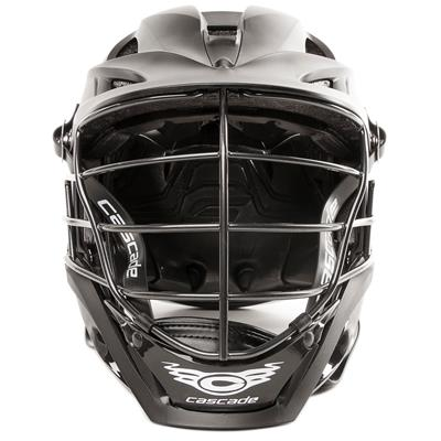 Front (Cascade S Helmet Matte Shell w/ Tungsten Steel Cage)